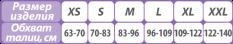 Размеры поясничных корсетов Тривес